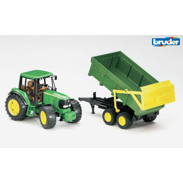 BRUDER 1:16 JOHN DEERE 6920 TRACTOR WITH TIPPING TRAILER