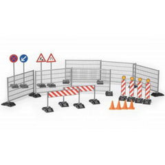 BRUDER ACCESSORIES SET RAILINGS SITE AND SIGNS