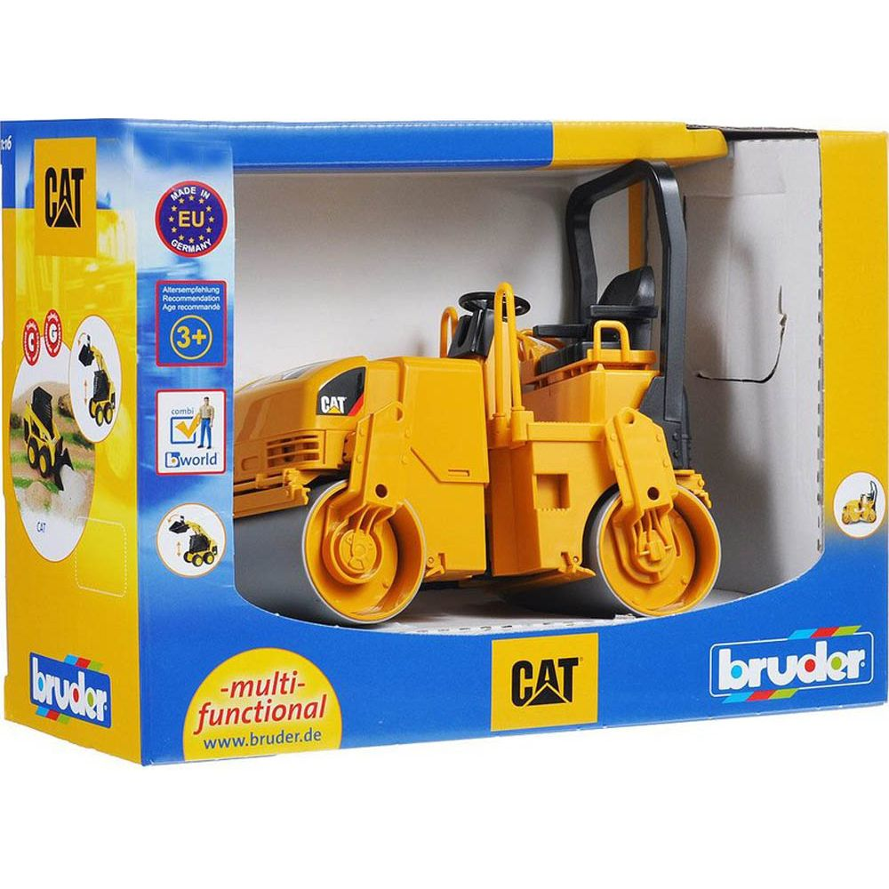 Bruder Caterpillar Asphalt Drum Compactor - Toyworld
