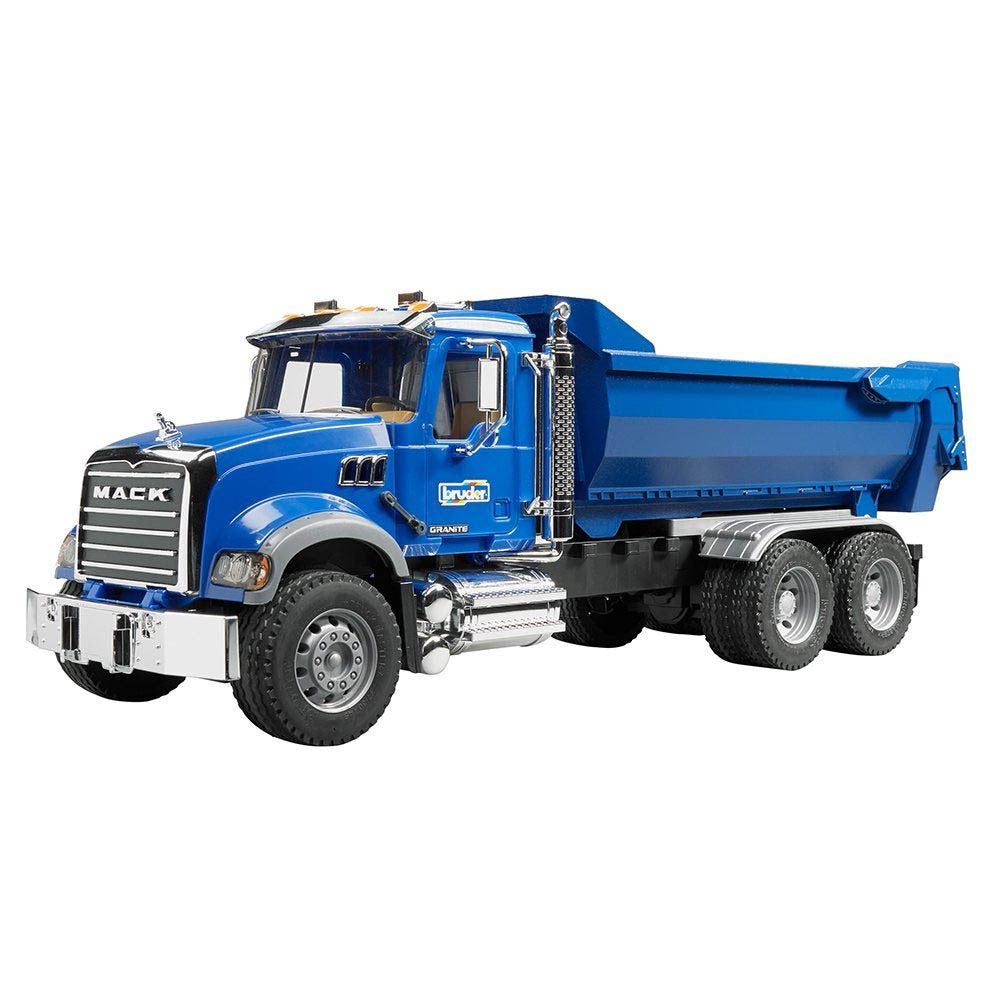 Bruder Mack Granite Half Pipe Dump Truck - Toyworld