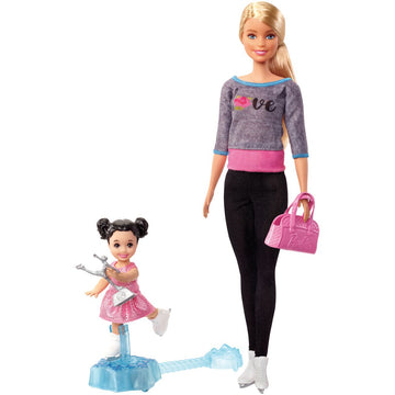 Barbie Career Sports Doll Playset Ice Skating Coach Img 1 - Toyworld