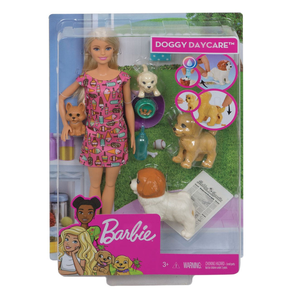 Barbie Doggy Daycare Doll & Pets - Toyworld