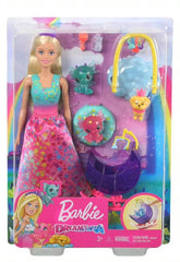 BARBIE DREAMTOPIA WITH BABY DRAGONS PINK DRESS