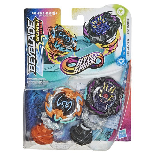Beyblade Burst Rise Hypersphere Dual Pack Right Artemis A5 Dusk Balkesh B5 - Toyworld