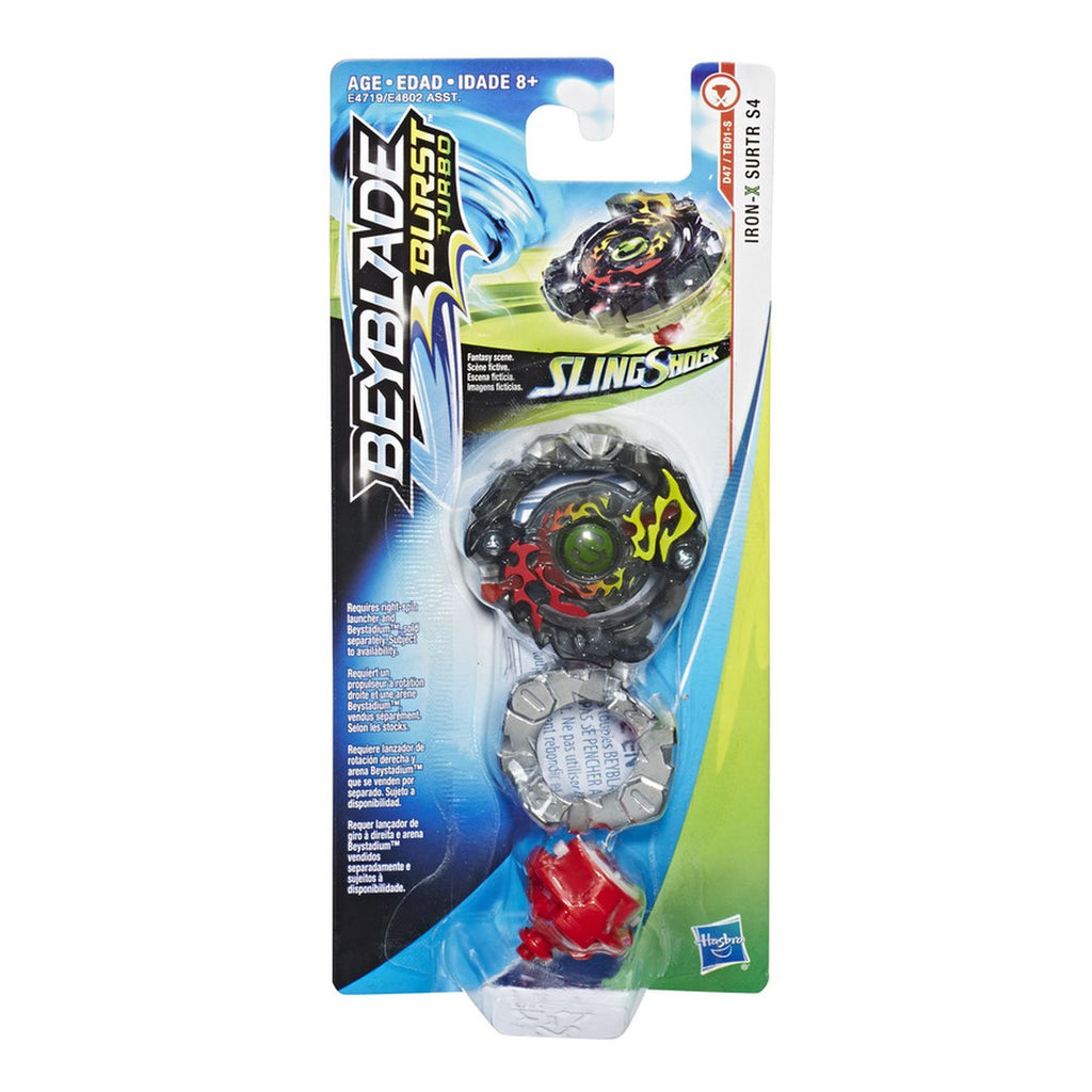 Beyblade Burst Turbo Slingshock Single Top Iron X Surtr S4 - Toyworld