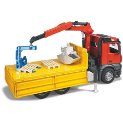 Bruder Mb Arocs Construction Truck With Crane Bucket Pallet Img 1 - Toyworld