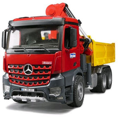 Bruder Mb Arocs Construction Truck With Crane Bucket Pallet Img 2 - Toyworld