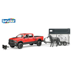 Bruder Ram Power Wagon With Horse Float - Toyworld