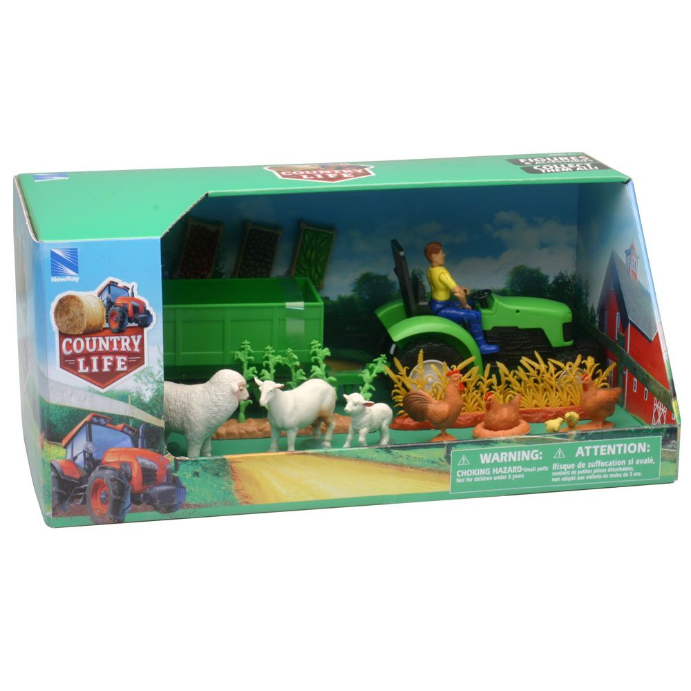 COUNTRY LIFE FARM ANIMAL AND TRACTOR SET ASSORTED STYLES