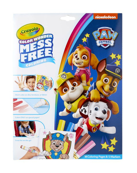 CRAYOLA COLOUR WONDER MESS FREE COLOURING PAW PATROL