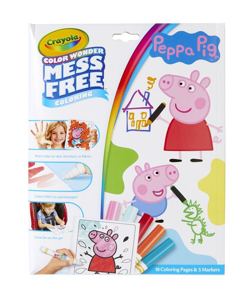 CRAYOLA COLOUR WONDER MESS FREE COLOURING PEPPA PIG