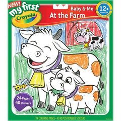 Crayola Colour Sticker Book At The Farm - Toyworld