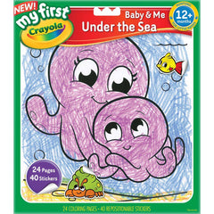 Crayola Colour Sticker Book Under The Sea - Toyworld
