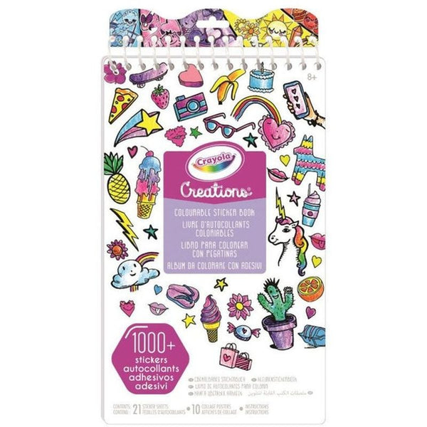 CRAYOLA CREATIONS COLORABLE STICKER BOOK