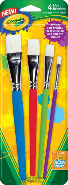 Crayola Flat Big Paint Brushes 4 Pack - Toyworld