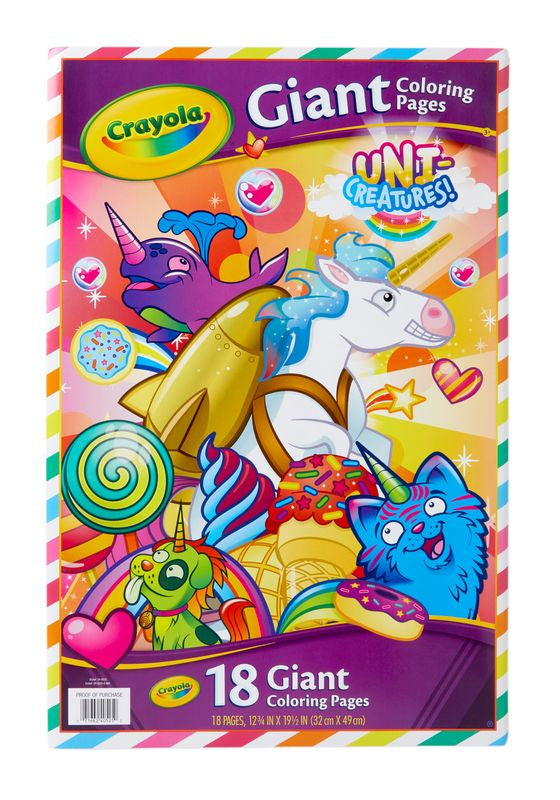 Crayola Giant Colouring Pages Uni Creatures - Toyworld