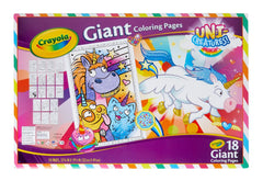 Crayola Giant Colouring Pages Uni Creatures Img 2 - Toyworld