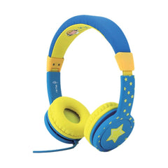 Cactus Watch On Ear Comfort Headphones Blue Yellow - Toyworld