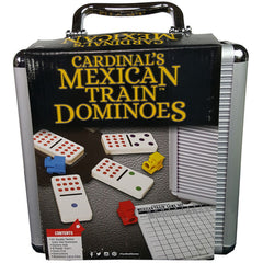 CARDINAL MEXICAN TRAIN DOMINO WITH CASE