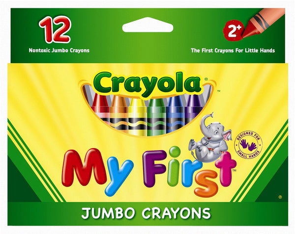 Crayola My First Jumbo Crayons 12 Pack - Toyworld