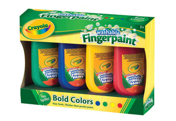 Crayola Washable Fingerpaint Bold Colors 4 Pack - Toyworld