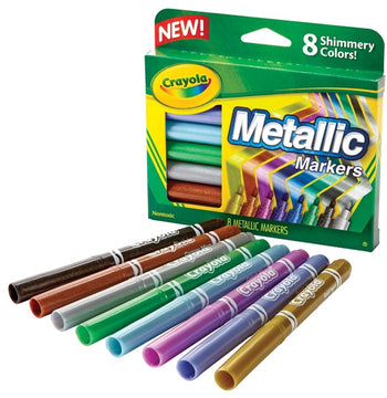 Crayola 8 Metallic Markers - Toyworld