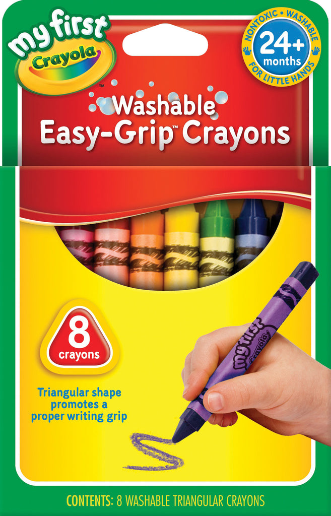 Crayola 8 My First Washable Triangular Crayons - Toyworld