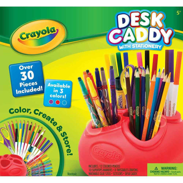 CRAYOLA CADDY WITH STATIONARY