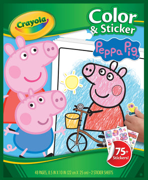 Crayola Color Sticker Book Peppa Pig - Toyworld