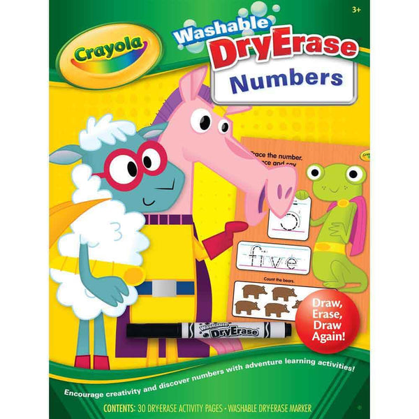 Crayola Dry Erase Workbook One Two At The Zoo - Toyworld