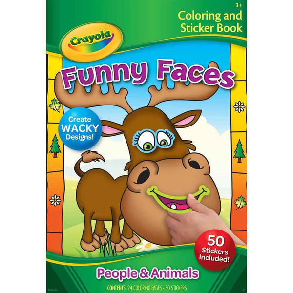 Crayola Funny Faces People Book - Toyworld