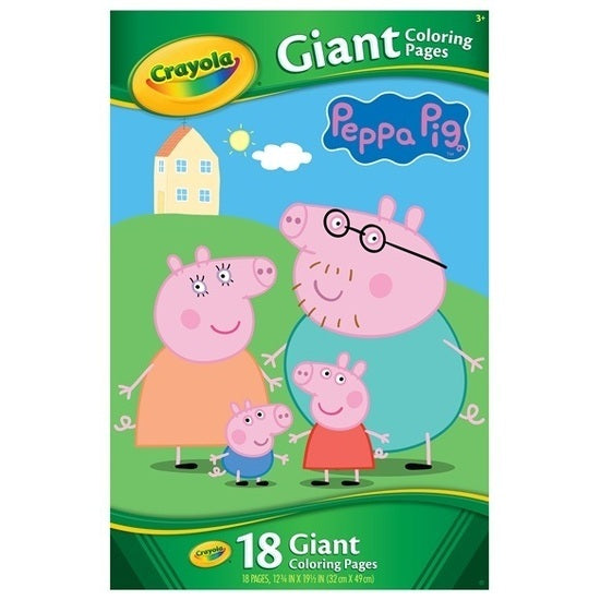 Crayola Peppa Pig Giant Coloring Pages - Toyworld