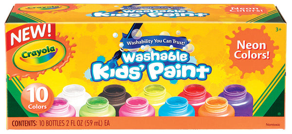 CRAYOLA WASHABLE NEON PAINT 10 PACK