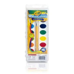 Crayola Washable Watercolors 16 Color Tray Img 1 - Toyworld