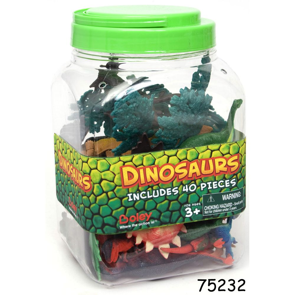 Dinosaur Bucket 40 Pieces - Toyworld