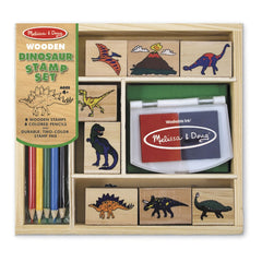 MELISSA & DOUG - WOODEN STAMP SET DINOSAUR