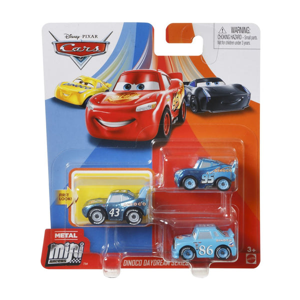 DISNEY CARS MINI RACERS 3 PACK DINOCO DAYDREAM SERIES