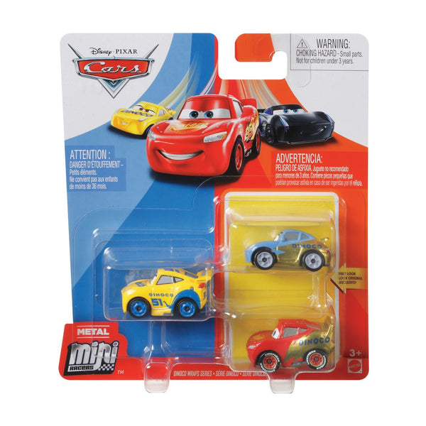 DISNEY CARS MINI RACERS 3 PACK DINOCO WRAPS SERIES