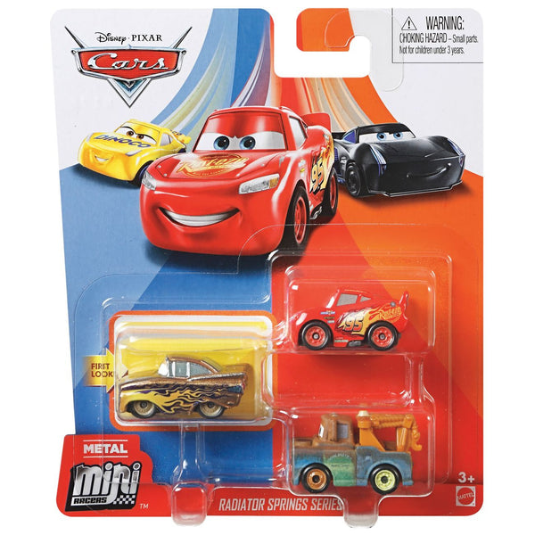 DISNEY CARS MINI RACERS 3 PACK RADIATOR SPRINGS SERIES