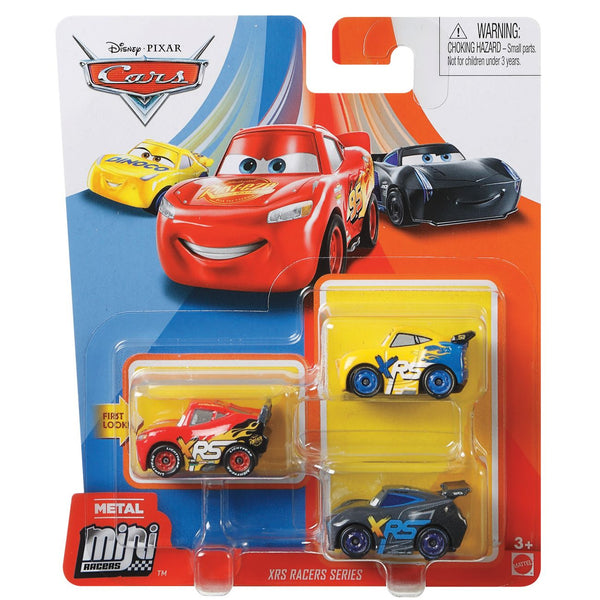 DISNEY CARS MINI RACERS 3 PACK XRS RACERS SERIES