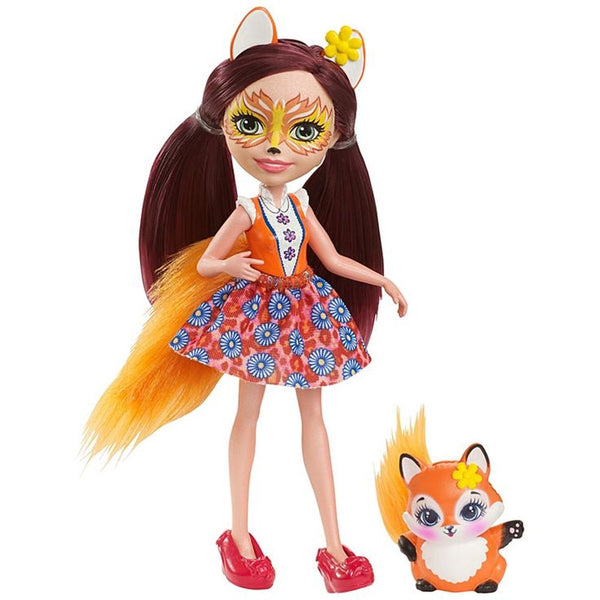 Enchantimals Doll Pet Felicity Fox Flick - Toyworld