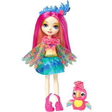 Enchantimals Doll Pet Peeki Parrot Sheeny - Toyworld
