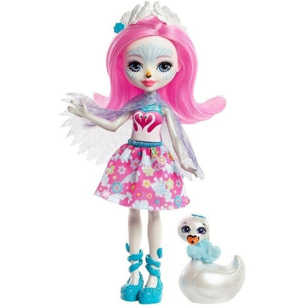 Enchantimals Doll Pet Saffi Swan Poise - Toyworld