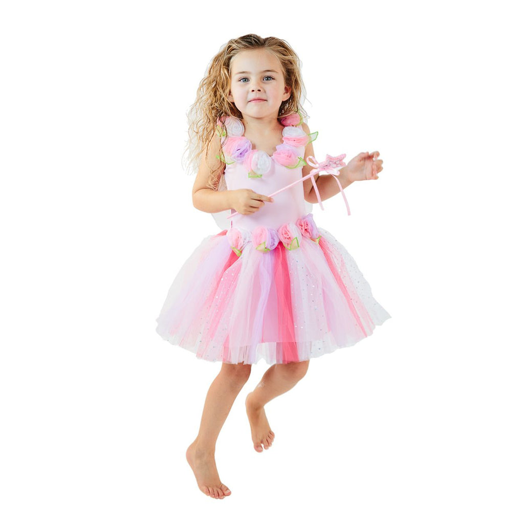 FAIRY GIRLS ENCHANTING FAIRY DRESS PINK SMALL