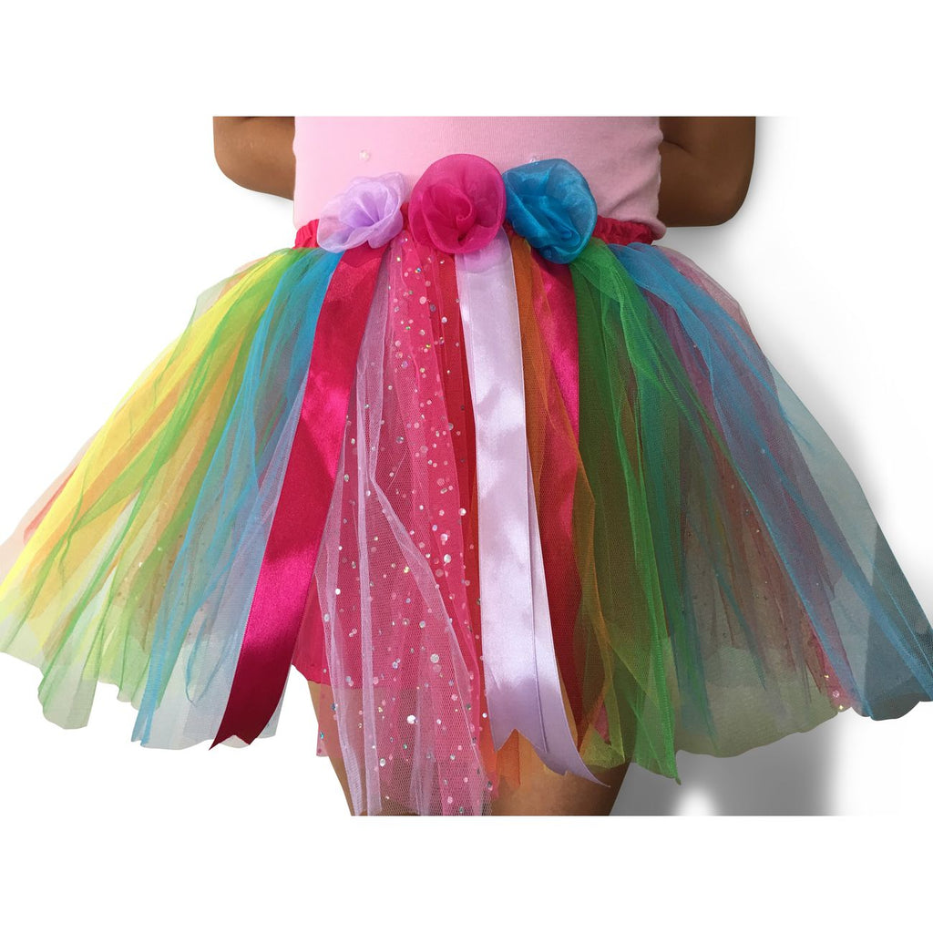 Fairy Girls Magical Fairy Skirt Rainbow - Toyworld