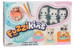 Fuzzkins S1 Colour In Frinds Cozy Cats - Toyworld