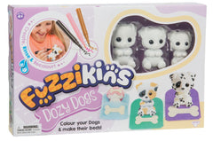 Fuzzkins S1 Colour In Frinds Dozy Dogs - Toyworld
