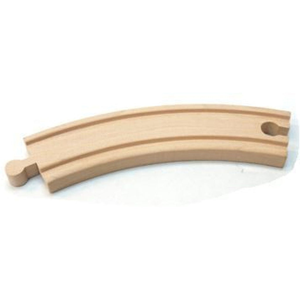 First Learning Wooden Curved Track Single Track - Toyworld