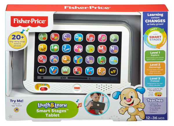 Fisher Price Laugh Learn Smart Stages Tablet Grey - Toyworld