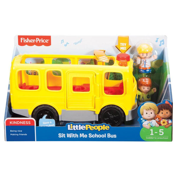 FISHER PRICE LITTLE PEOPLE LARGE VEHICLE SIT WITH ME SCHOOL BUS